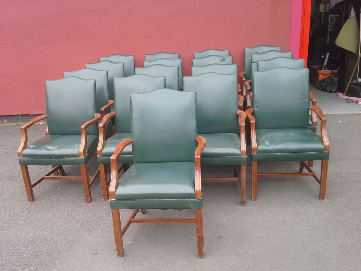Secondhand Hotel Furniture Dining Chairs 17 Leather Chairs