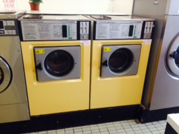 Two Electrolux WP100 Coin Op Washers