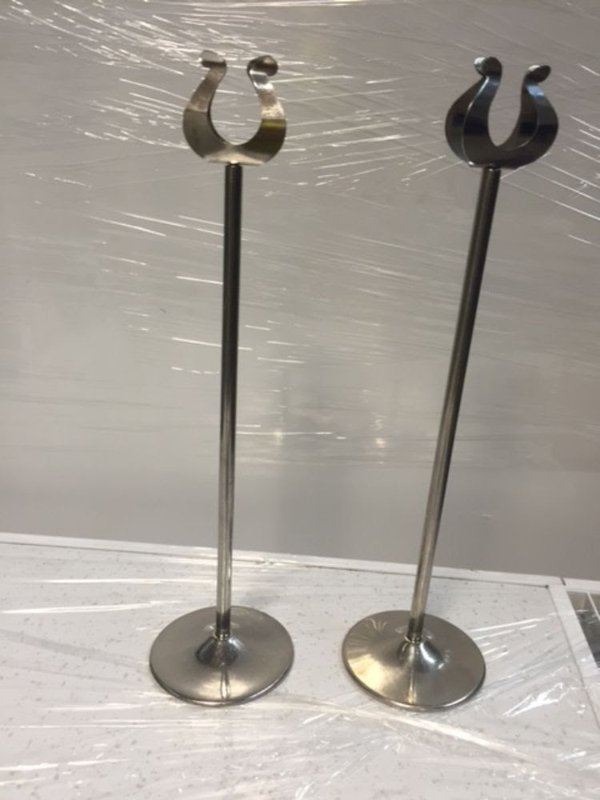 """31 x 10"""" High Table Number Stands"""