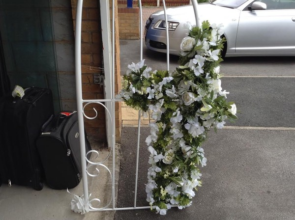 Wedding arch for flowers