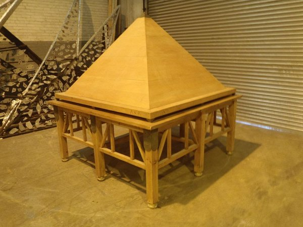 Table and Pyramid Film Prop