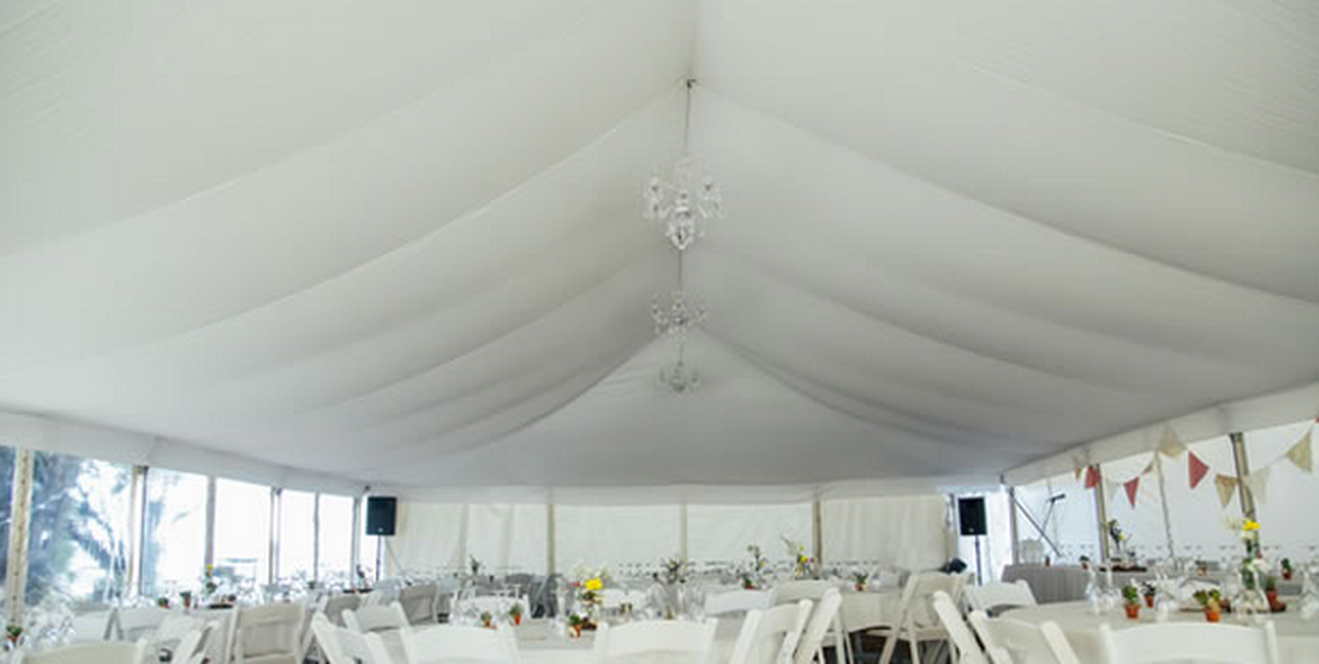 Curlew Secondhand Marquees Flat Marquee Linings 9m X