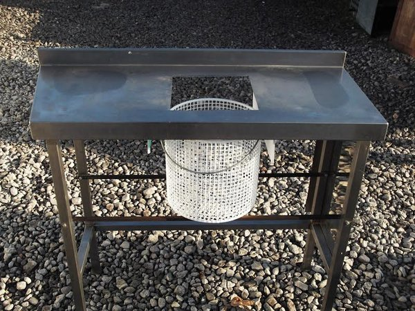 Fish and chip shop - chipping table with basket