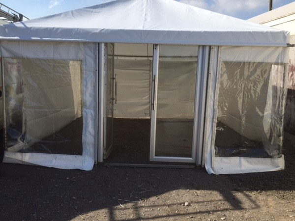 4.5m X 4.5m marquee adverts