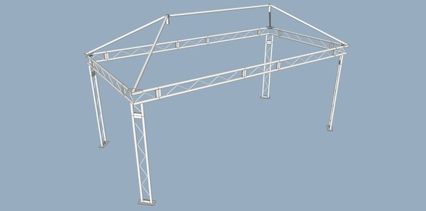 Professional Covered Stage Roof System Plans