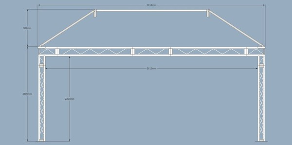 Professional Covered Stage Roof System Sketches