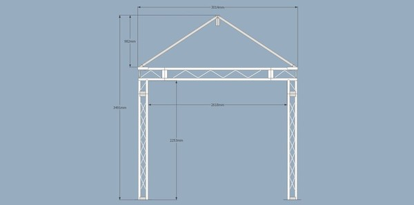 Professional Covered Stage Roof System Spec