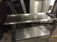 Pass through dish washer table
