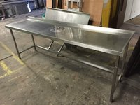 Stainless steel bench / table with clearing hole