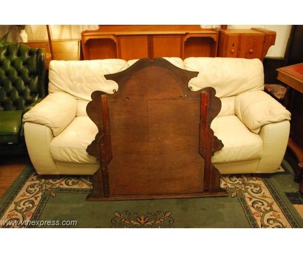 Sisties over mantel solid mahogany mirror