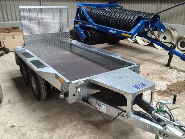 Ifor Williams - GX 84 Twin Axle Plant Trailer Complete With Rear Ramp