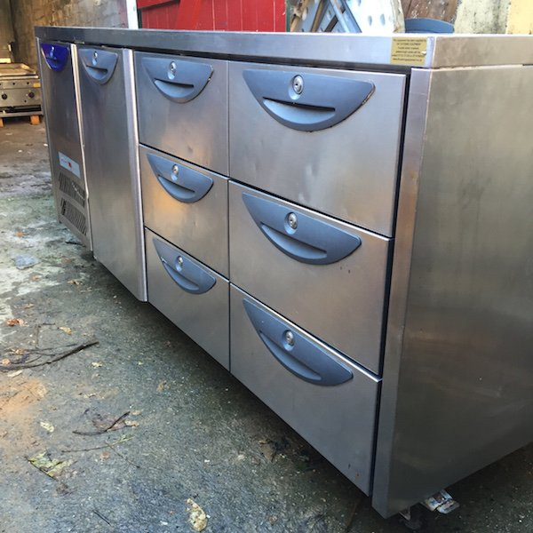 Counter Fridge with Drawers