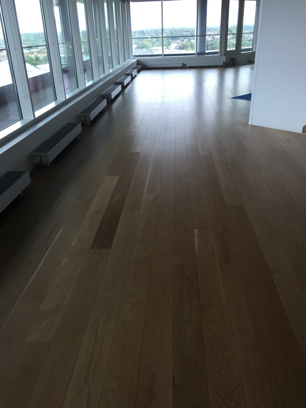 Reclaimed Junckers Solid Oak Commercial Flooring