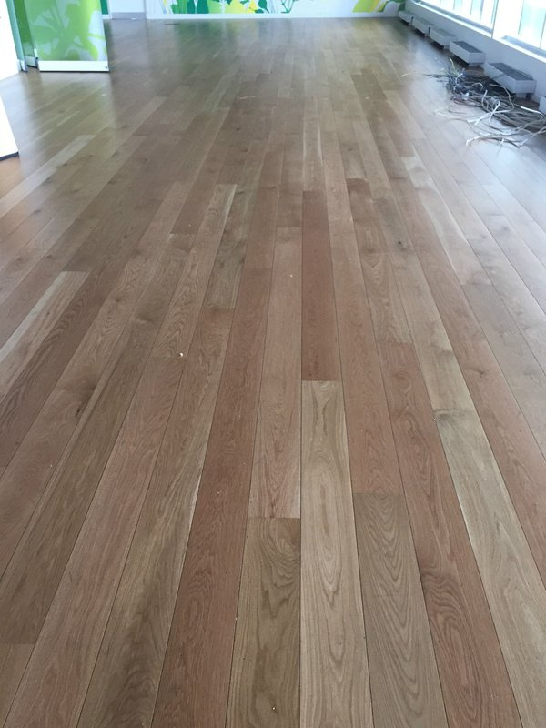Reclaimed Junckers Solid Oak Office Flooring