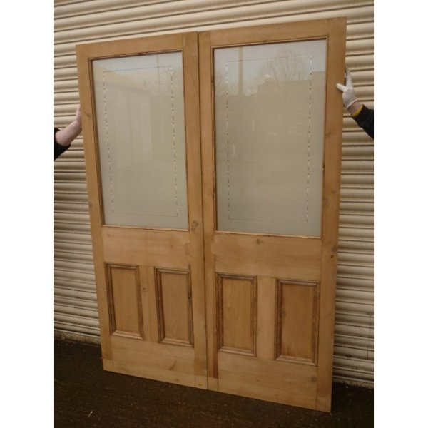 Etched Glass Double Doors