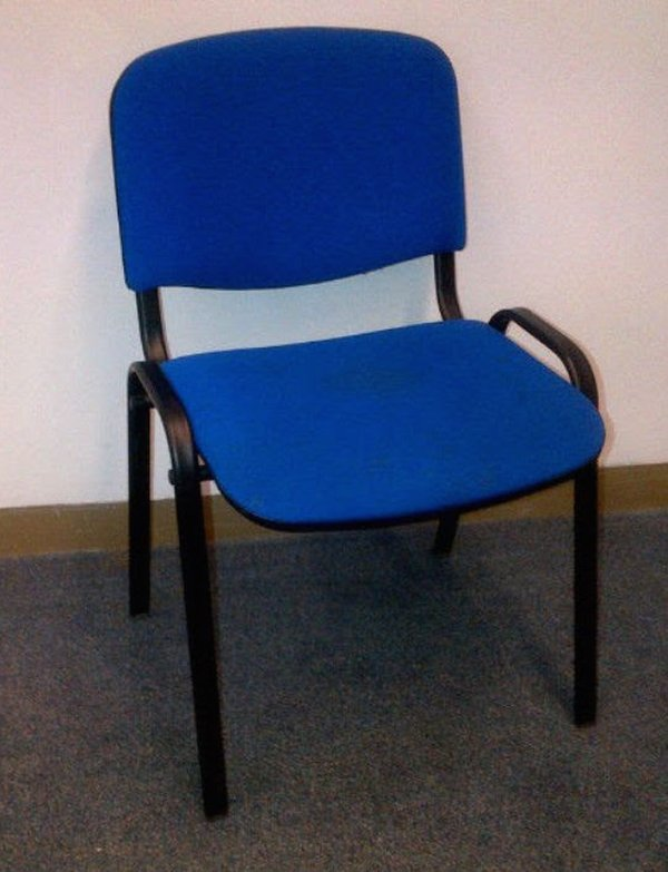 250 Used fabric upholstery stacking chairs