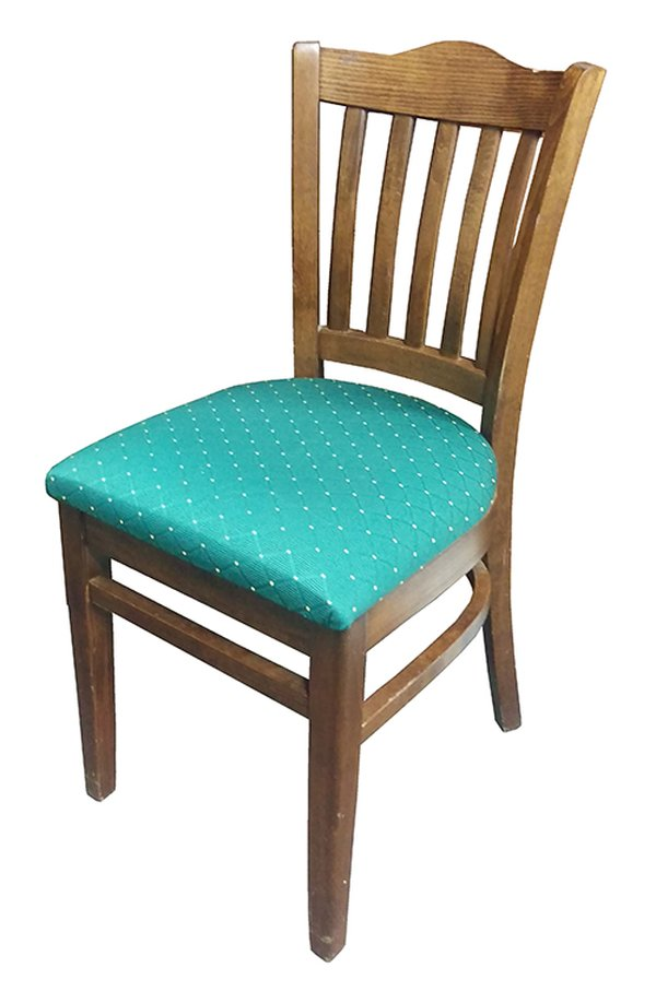 Solid Wood Green Upholstered Dining Chair