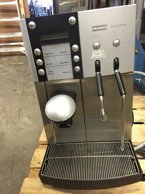 Franke evolution coffee machine bean to cup MISSING HOPPER