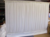 USED gathered ivory trevera wall linings with white PVC bottoms - Oxfordshire