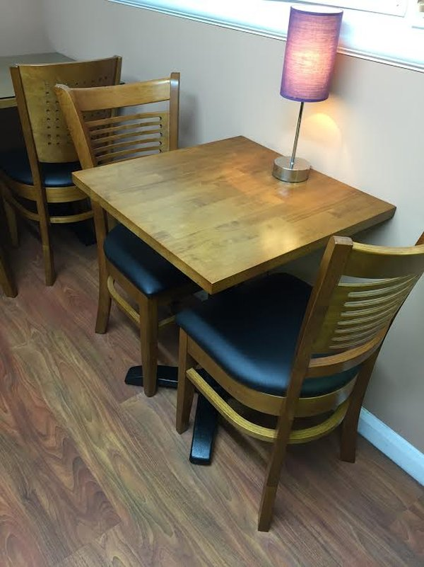 Solid Wood And Cast Iron Bistro Tables
