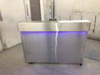2 x Stainless Steel Mobile Bars