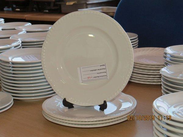 "Churchill 22cm dia (8.5"") White Buckingham Pattern Plate"