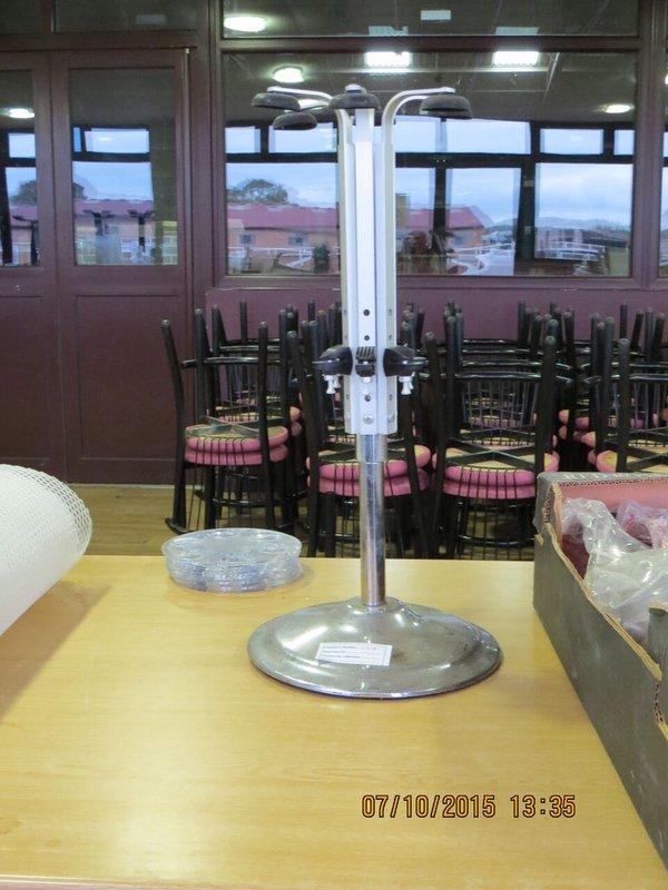 Rotary Heavy Base 6 Bottle Optic Stand