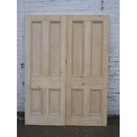 Pair of Original Antique Solid Pine Double Doors