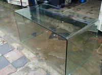 Bent Glass Commercial Table / Reception Desk