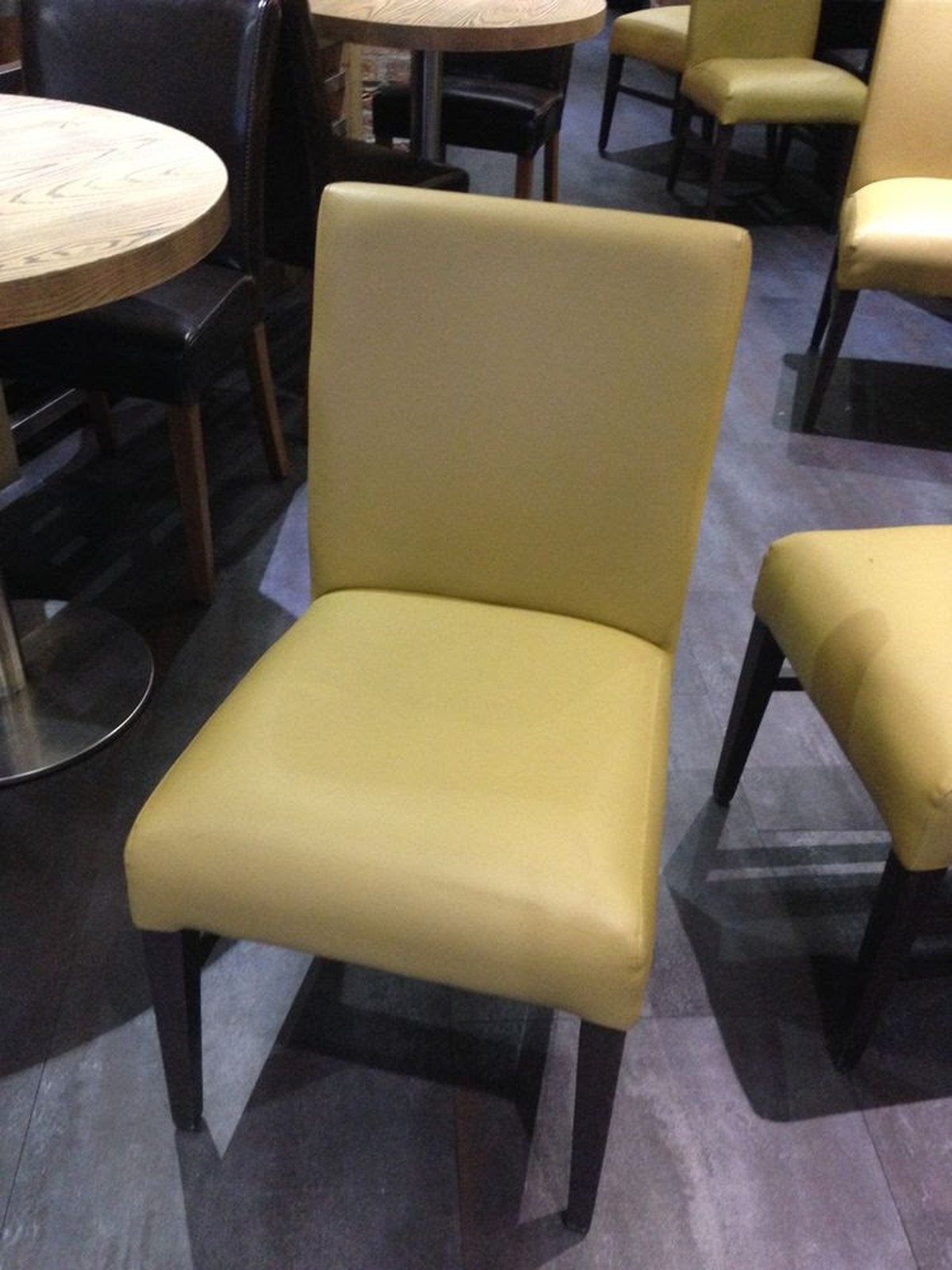 Secondhand hotel furniture dining chairs leather