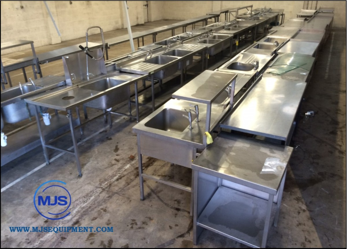 Secondhand generators mjs catering and refrigeration gloucester stainless steel sinks - Stainless steel table with sink and faucet ...