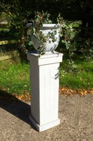 Stone Effect Urn on Pillar