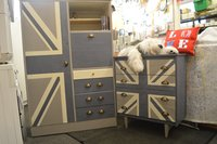 Mid Century Wardrobe/Armoire and Chest of Drawers
