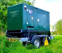 40 KVA Silenced road towable Generator