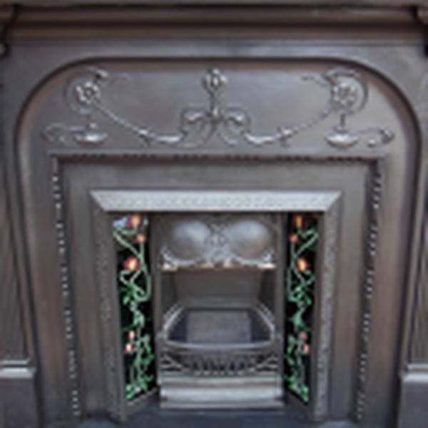 Original Victorian Cast Iron Fireplace Surround