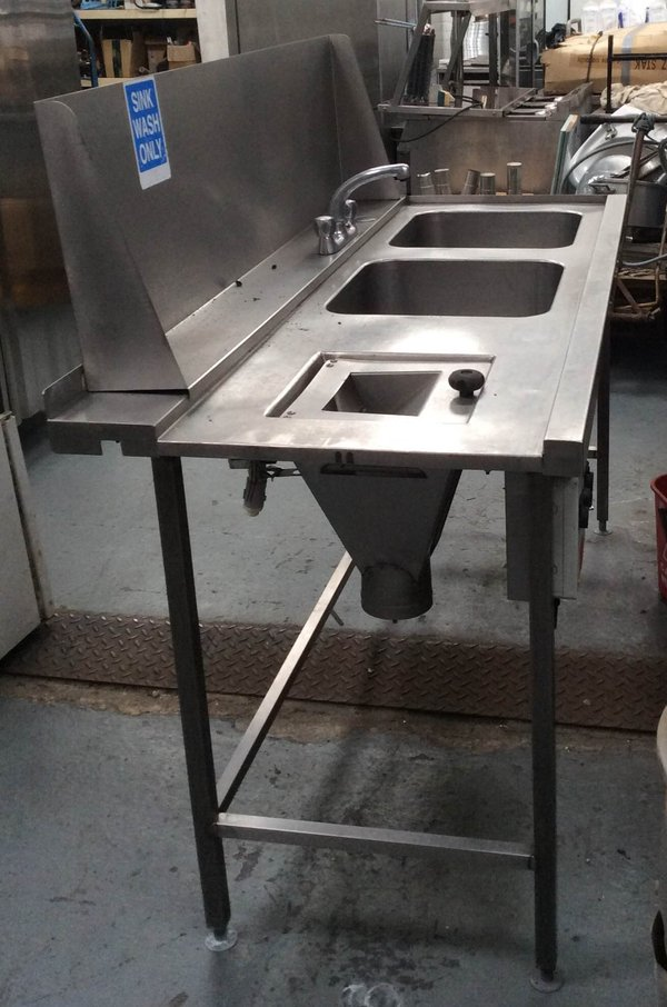 Double Sink with Waste Disposal Chute