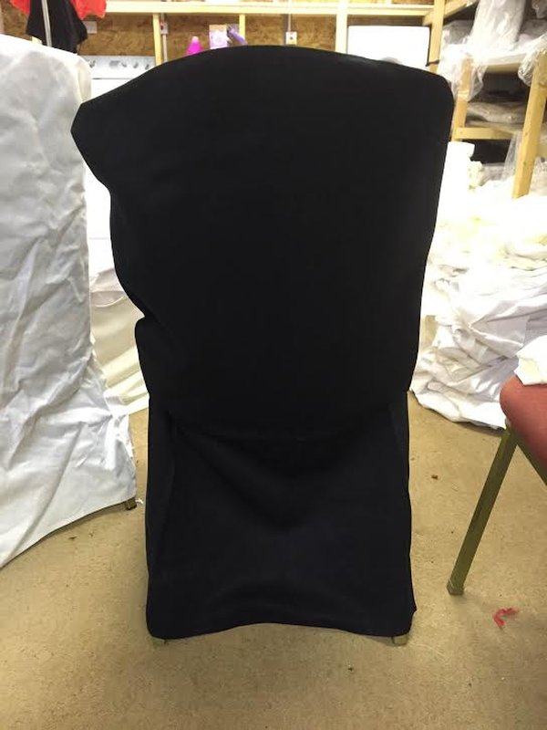Black cotton chair covers