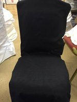 Heavy duty black chair covers