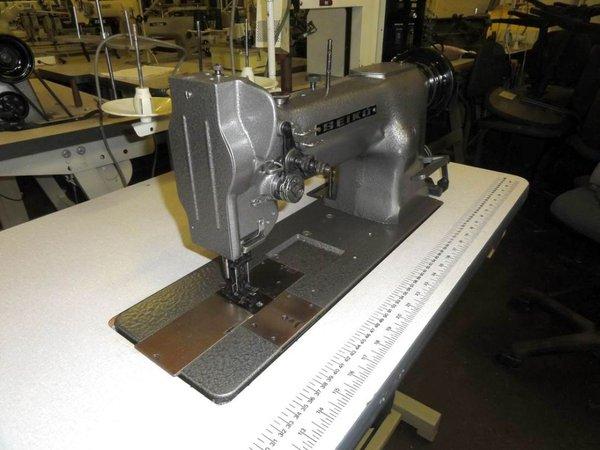 Twin needle walking foot sewing machine