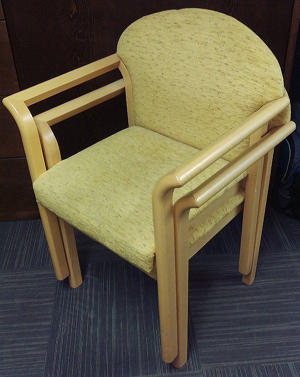 Upholstered Solid Wood Arm Chair (Code: MF2450)