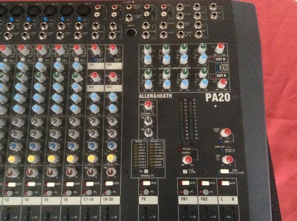 Allen & Heath PA Mixing Desk PA20