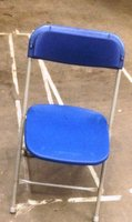 500x Quality Blue Samsonite Plastic Folding Chairs
