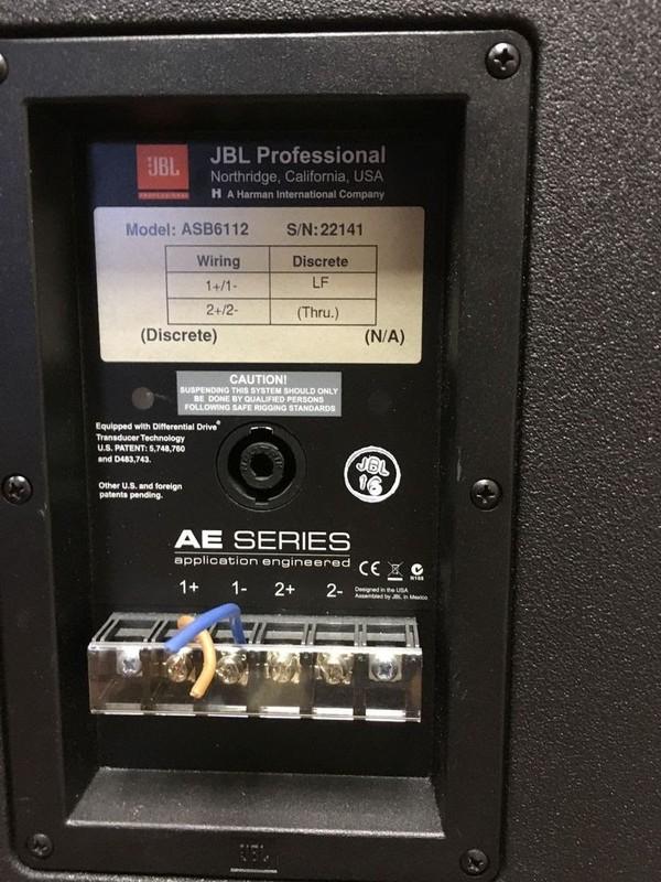 """JBL ASB 6112 Speaker High Power Single 12"""" Subwoofer , detail"""