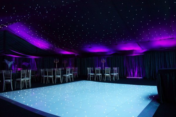 18 x18ft  Complete LED White Wired Dance Floor