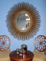 oval sunburst mirrors