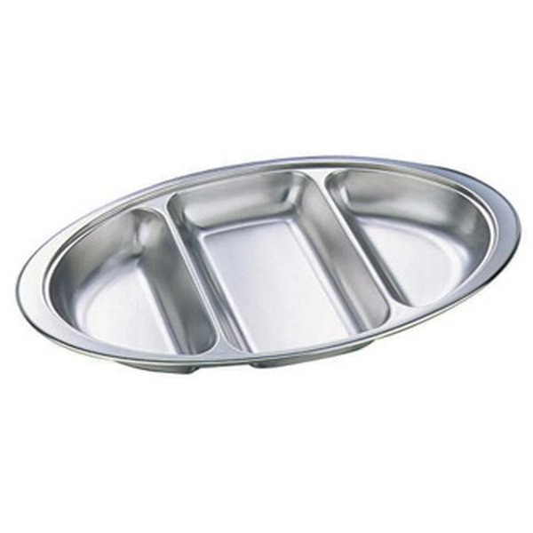 Stainless Steel Veg Dish 3 Divided