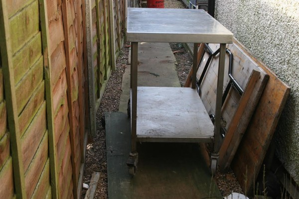 Stainless Steel Table on Castors - West Midlands