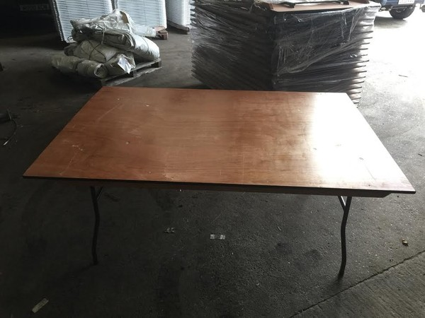 6' x 4' Wooden Trestle Tables