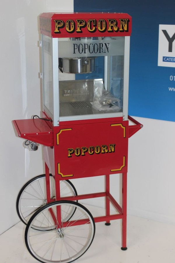 New Professional 8oz Red Classic Popcorn Maker Cart