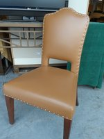 Tan Leather Desk Chairs x 10